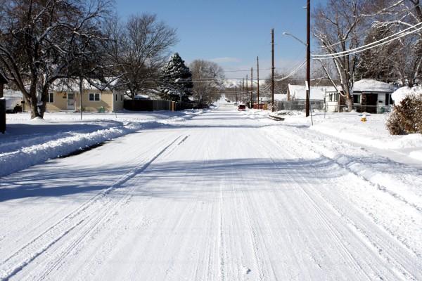 Snowy Street - Free High Resolution Photo