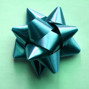 Teal Colored Bow - Free high resolution photo