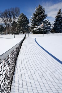 Tennis Court Net Buried in Snow - Free High Resolution Photo