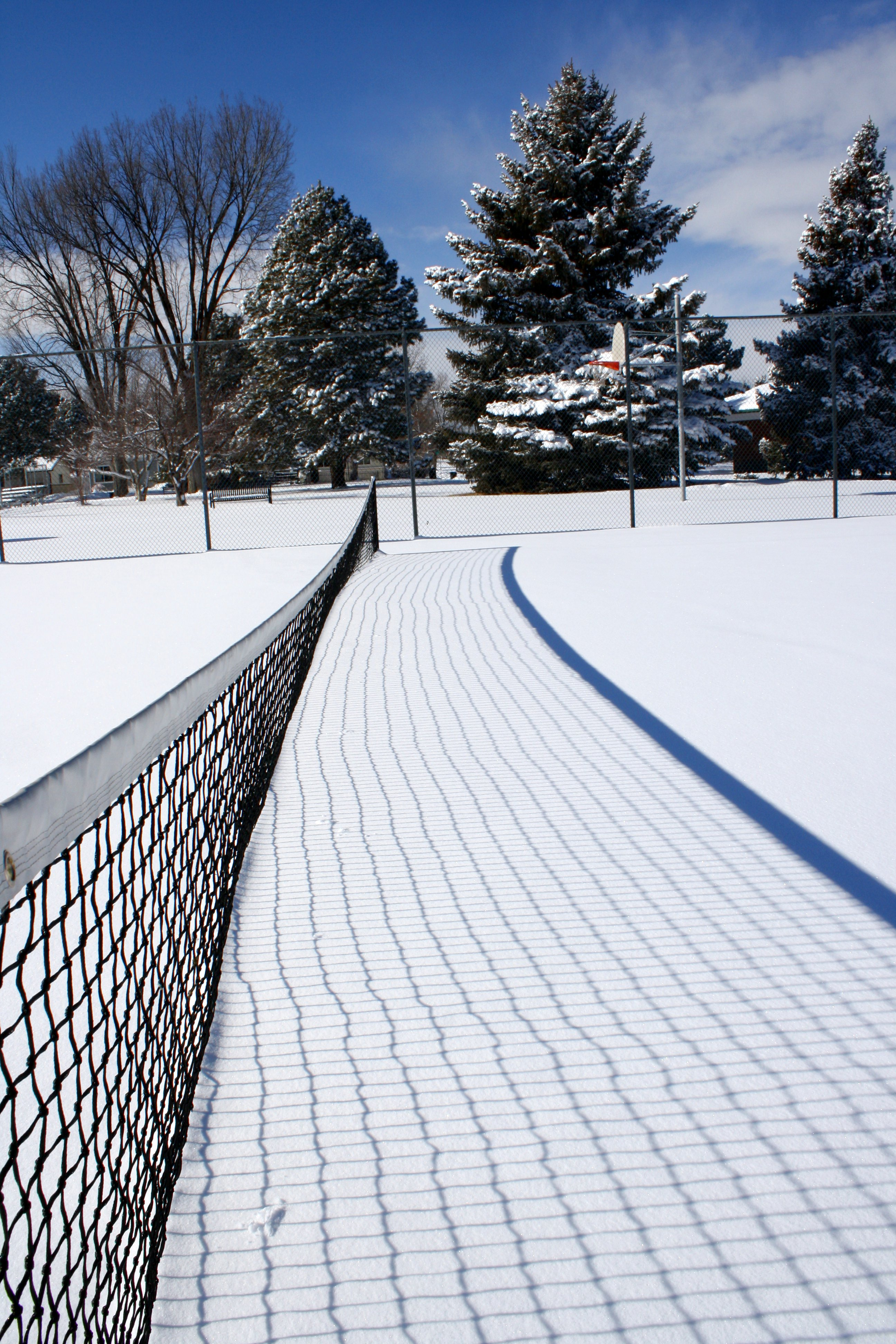 Tennis Court Net Buried In Snow Picture Free Photograph Photos