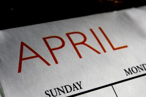 April Calendar - Free High Resolution Photo