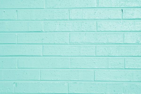 Aqua Green Painted Brick Wall Texture - Free High Resolution Photo