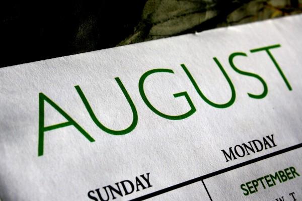 August Calendar - Free High Resolution Photo