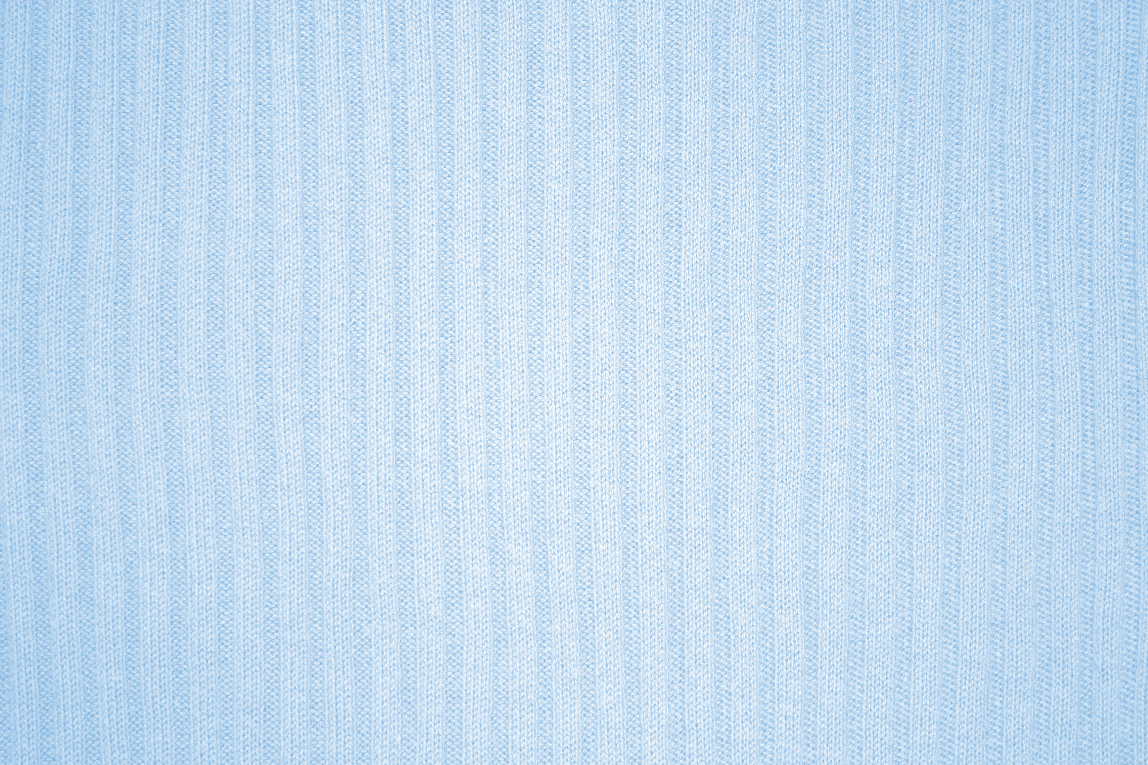 Baby Blue Ribbed Knit Fabric Texture Picture Free Photograph