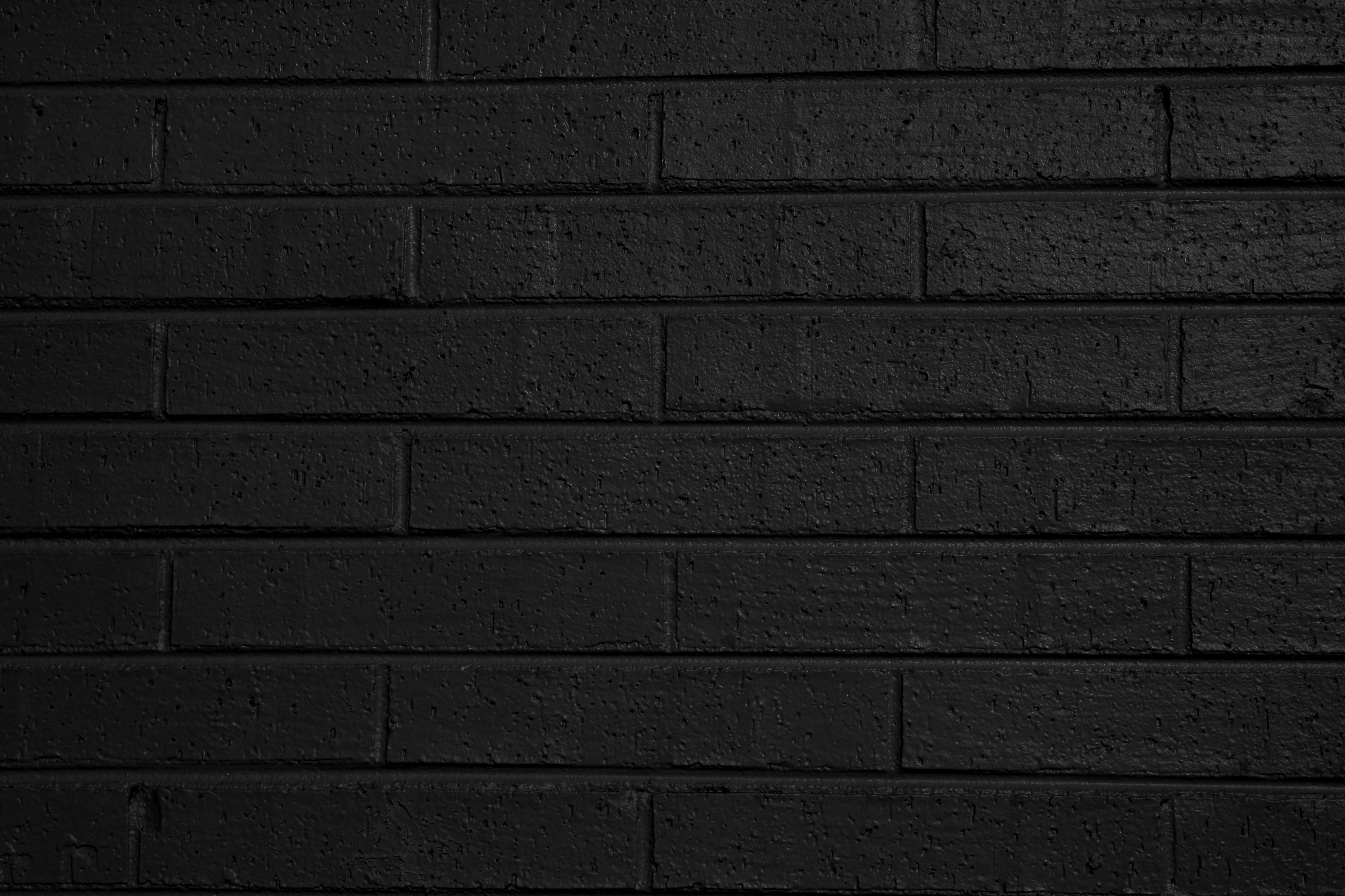 Black Painted Brick Wall Texture Picture Free Photograph