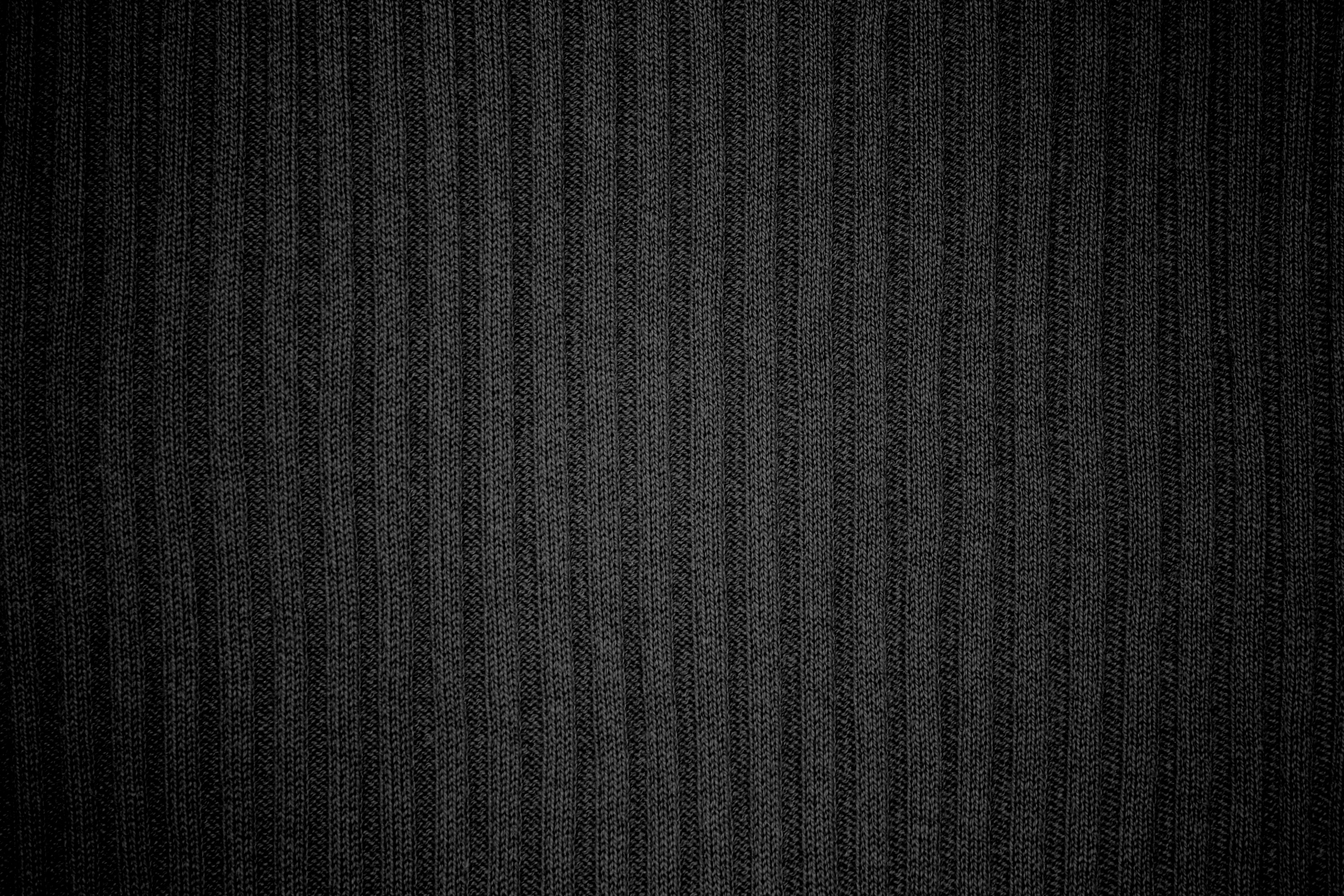 Black Ribbed Knit Fabric Texture Picture Free Photograph Photos