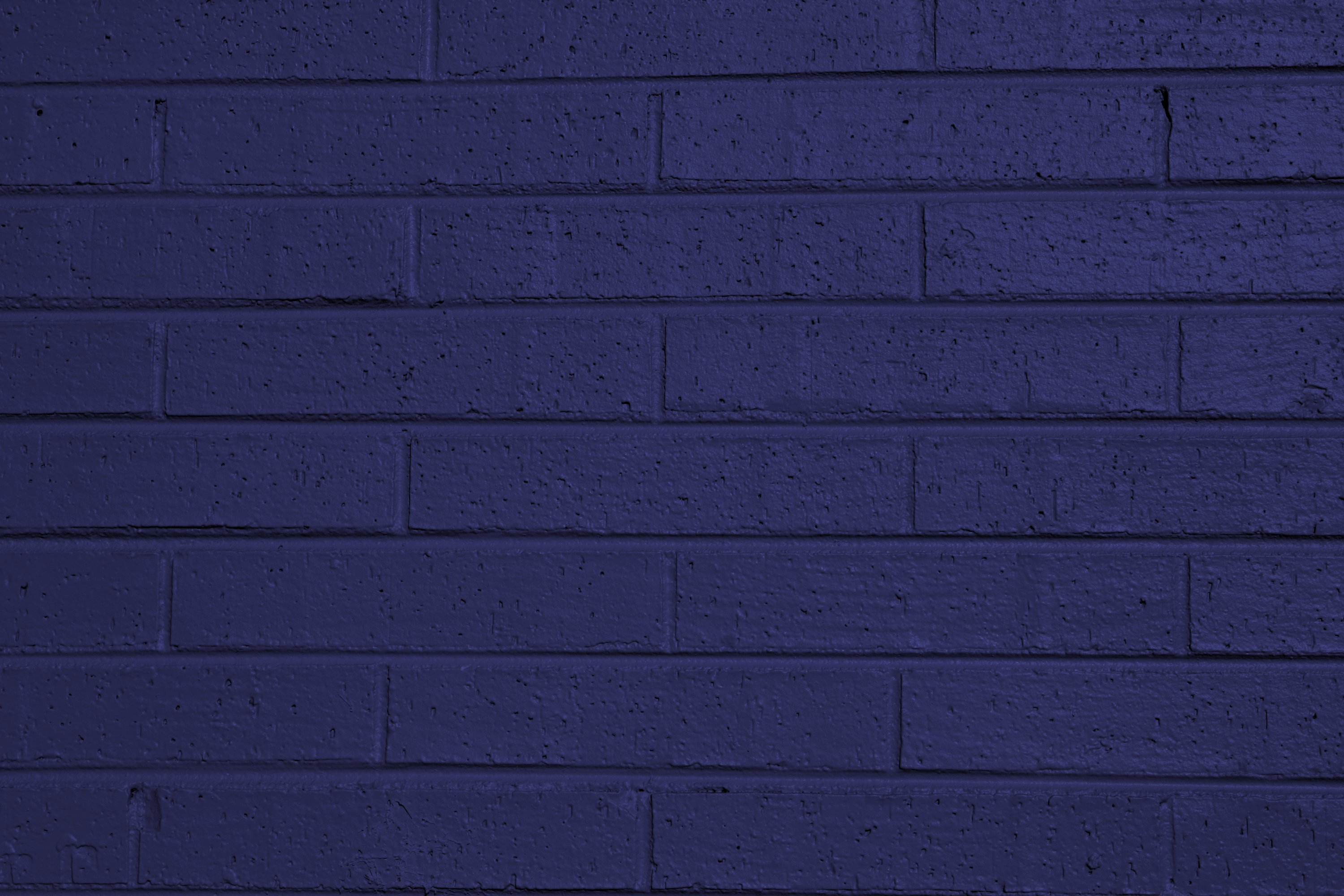 Blue Painted Brick Wall Texture Picture Free Photograph