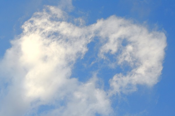 Blue Sky with Wispy White Clouds - Free High Resolution Photo