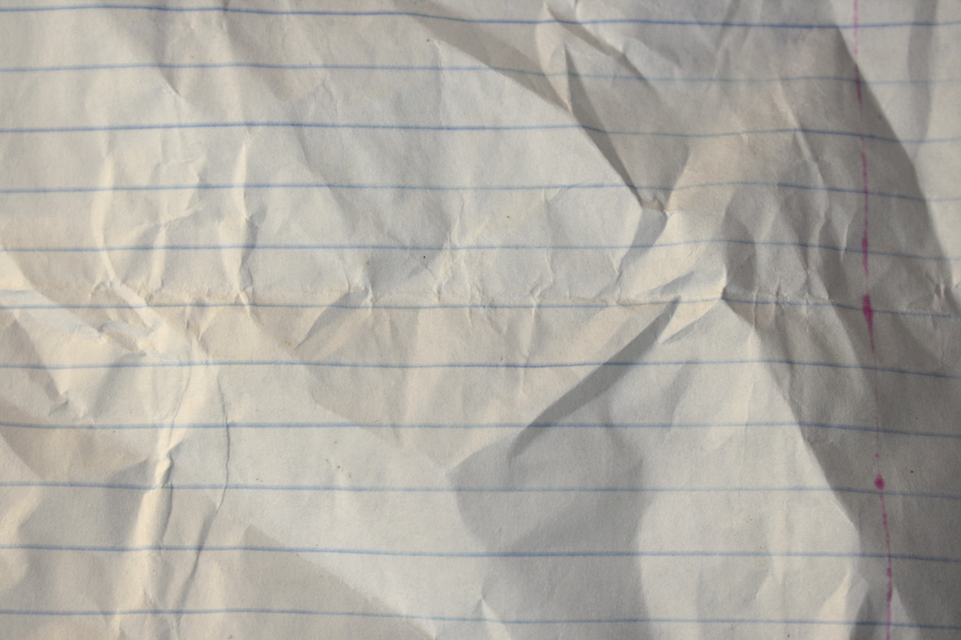 Crumpled Notebook Paper Texture Picture Free Photograph