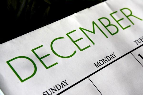 December Calendar - Free High Resolution Photo
