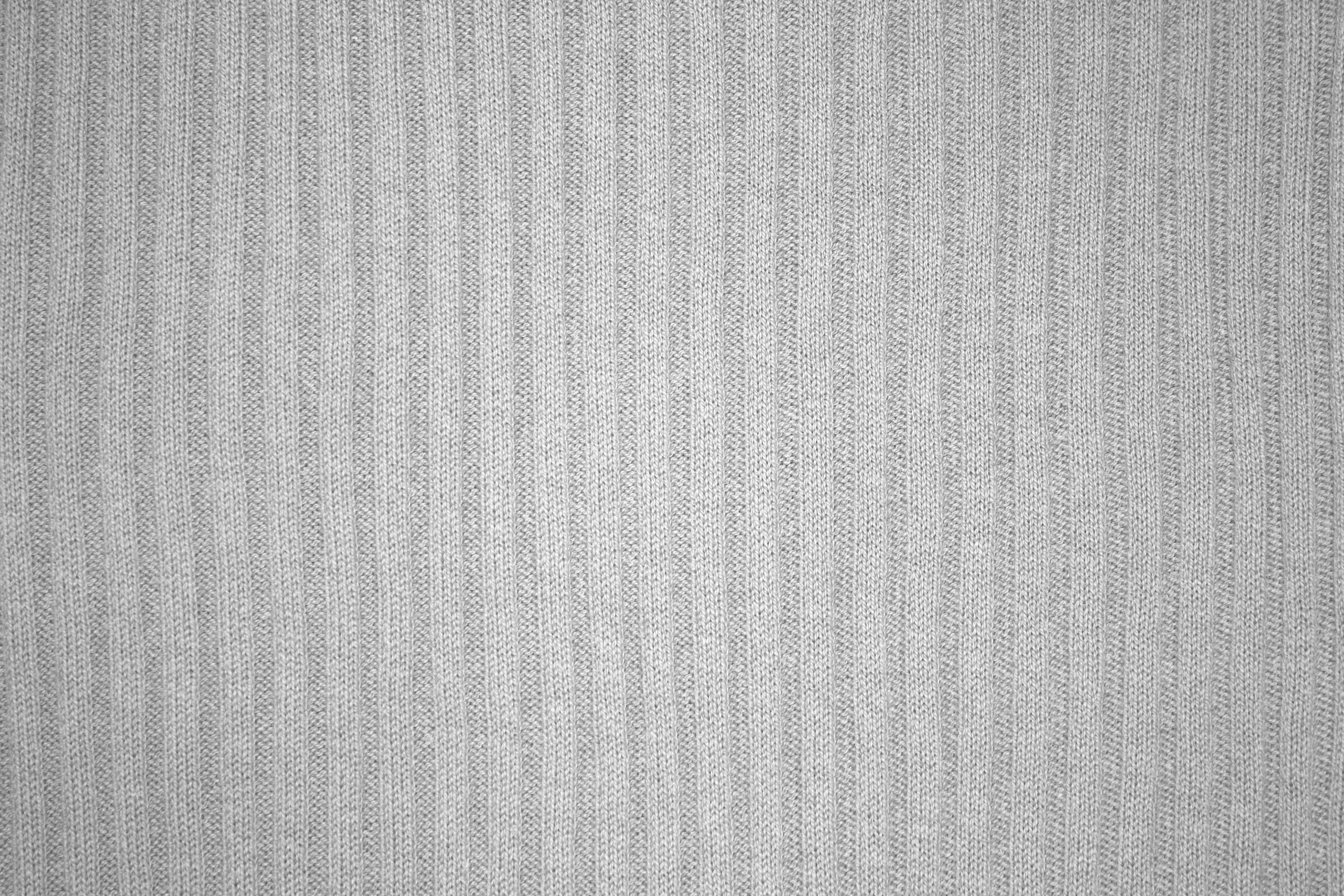 Gray Ribbed Knit Fabric Texture Picture Free Photograph
