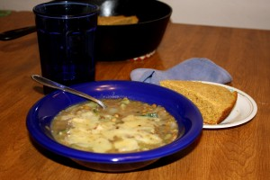 Green Chili Lentil Stew with Cornbread - Free High Resolution Photo