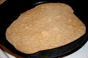 Homemade Tortilla Cooking on Skillet - Free High Resolution Photo