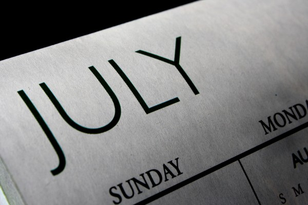 July Calendar - Free High Resolution Photo