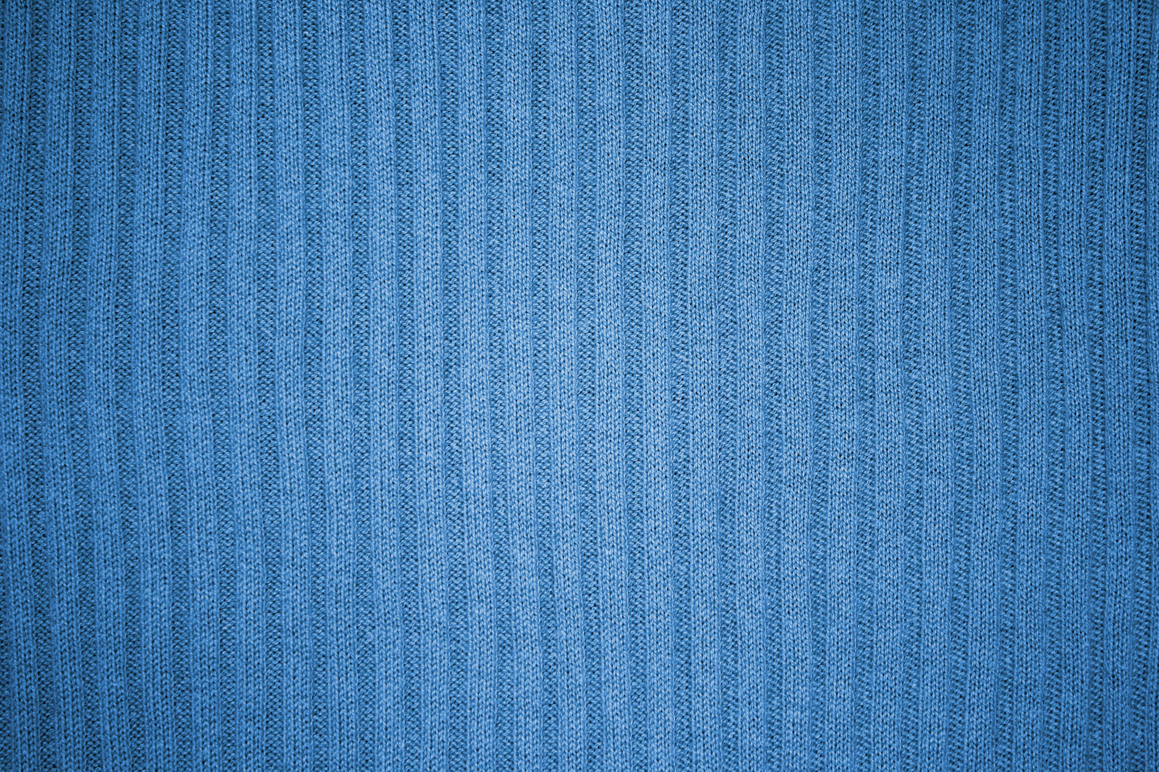 Light Blue Ribbed Knit Fabric Texture