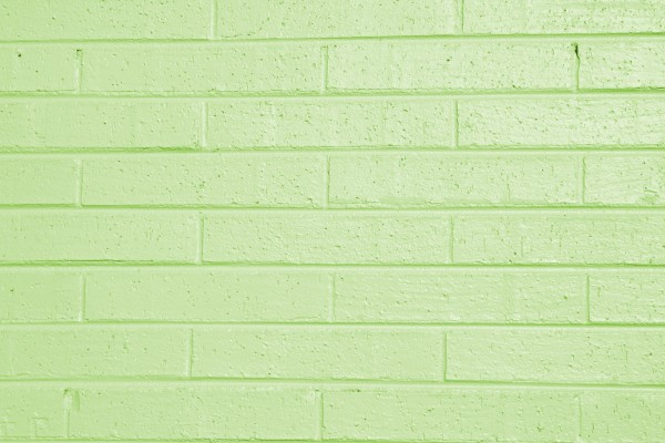 Lime Green Painted Brick Wall Texture - Free High Resolution Photo
