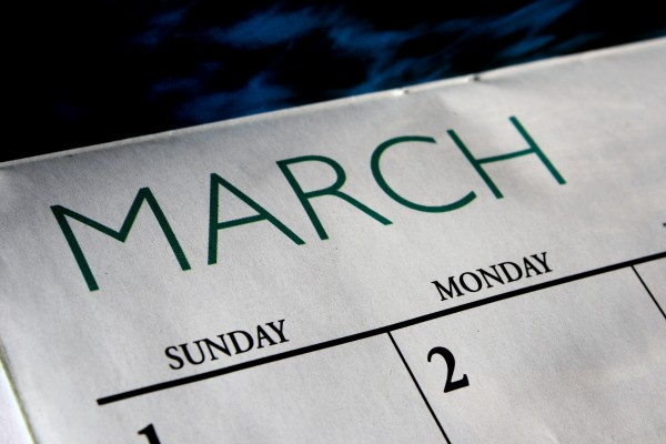 March Calendar - Free High Resolution Photo