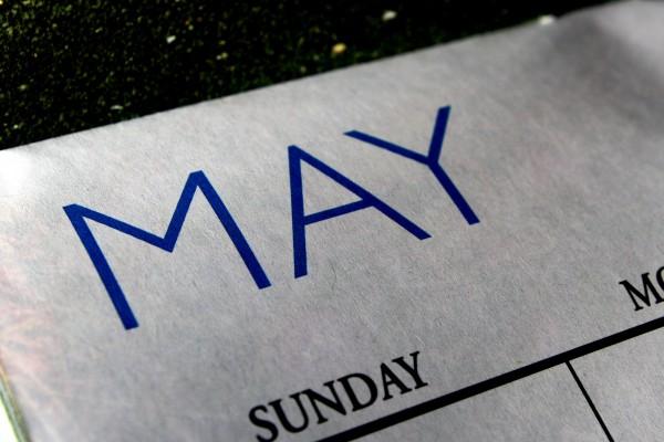 May Calendar - Free High Resolution Photo