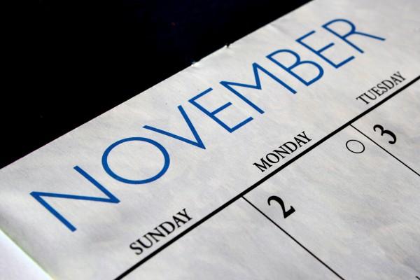 November Calendar - Free High Resolution Photo