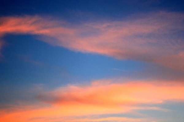 Orange Clouds in Deep Blue Sky - Free High Resolution Photo