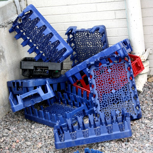 Pile Of Plastic Soda Crates Picture Free Photograph
