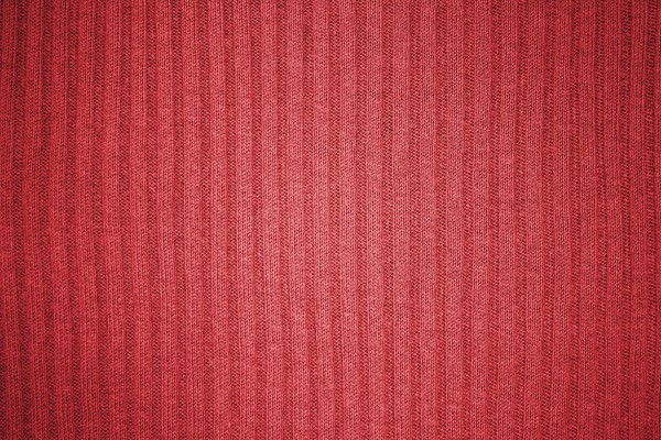 Red Ribbed Knit Fabric Texture - Free High Resolution Photo