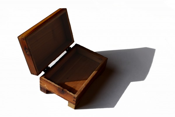 Small wooden box with hinged lid picture free photograph for Small cardboard jewelry boxes with lids