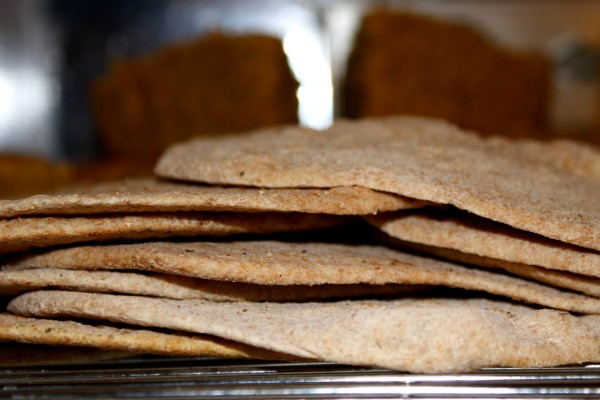 Stack of Whole Wheat Tortillas on Cooling Rack - Free High Resolution Photo