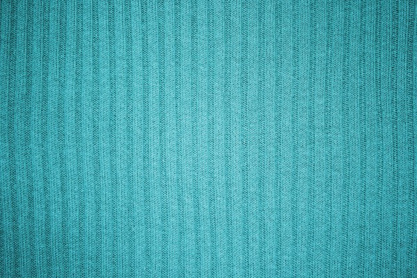 Teal or Turquoise Ribbed Knit Fabric Texture - Free High Resolution Photo