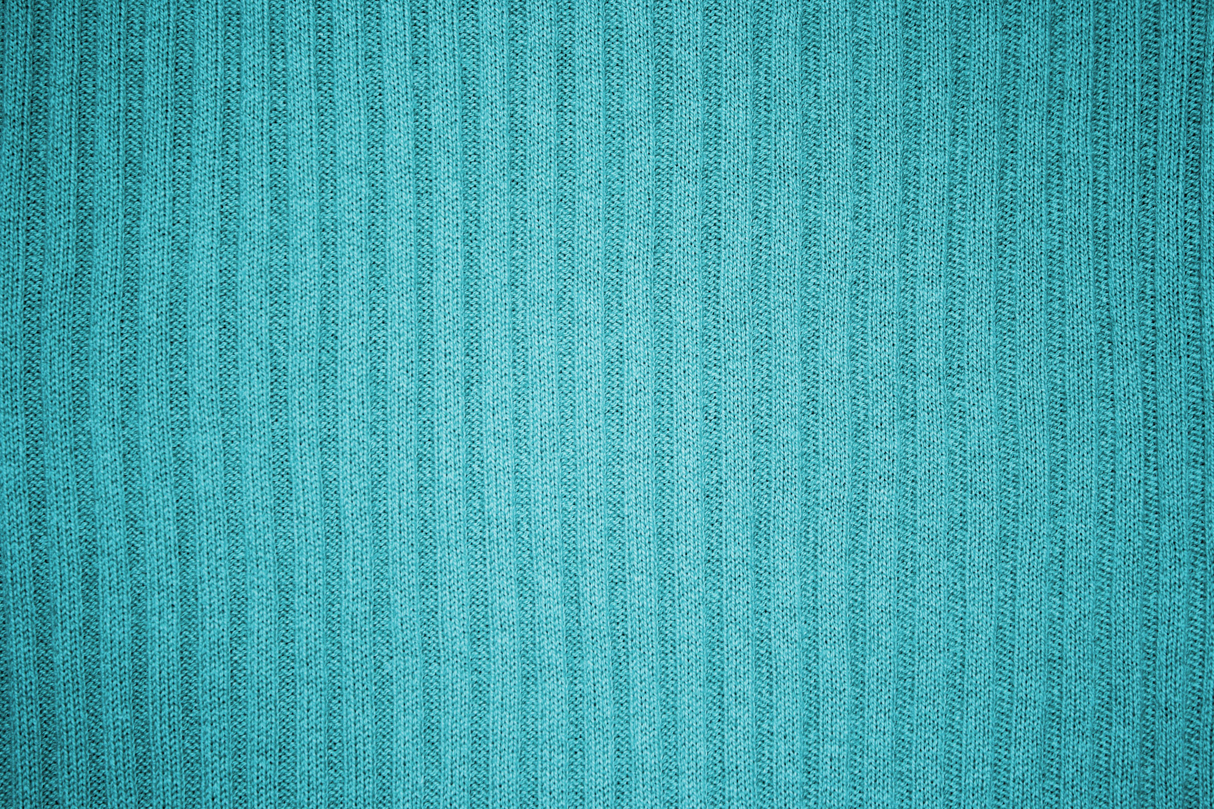 Teal Or Turquoise Ribbed Knit Fabric Texture Picture