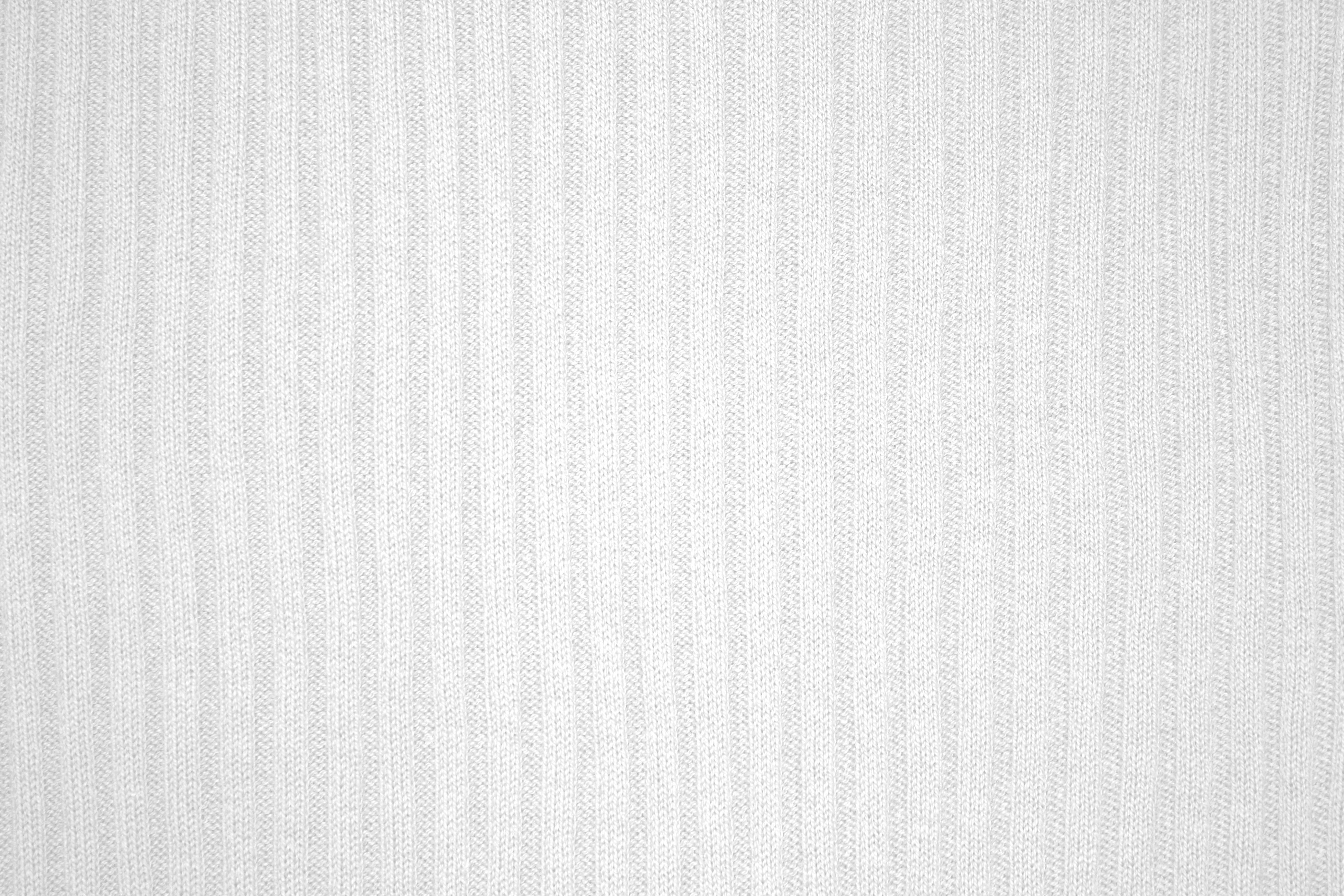 White Ribbed Knit Fabric Texture