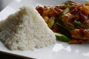 Asian Food with Rice Pyramid - Free High Resolution Photo
