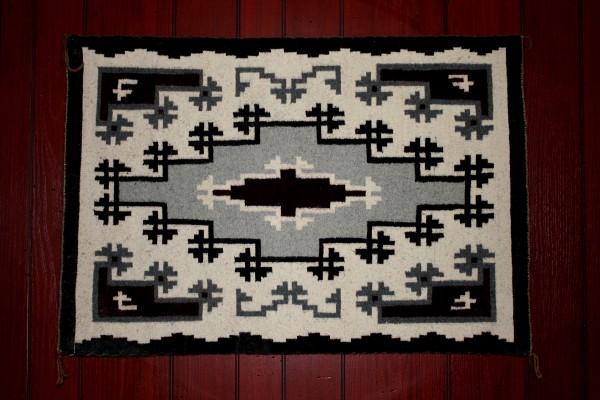 Black and White Navajo Rug - Free High Resolution Photo