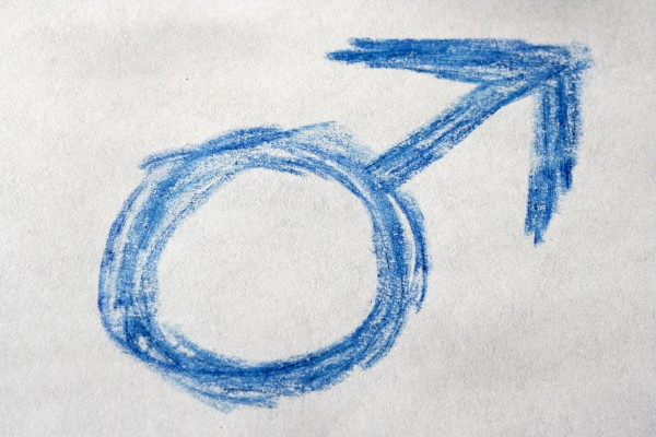 Blue Crayon Drawn Male Gender Sign or Symbol - Free High Resolution Photo