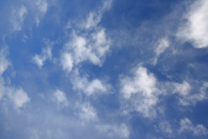 Blue Sky with White Clouds Texture - Free High Resolution Photo