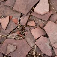 Broken Red Flagstone - Free High Resolution Photo