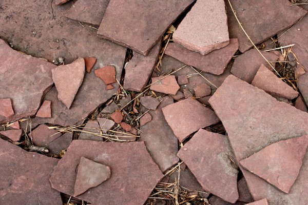Broken Red Flagstone - Free High Resolution Photo