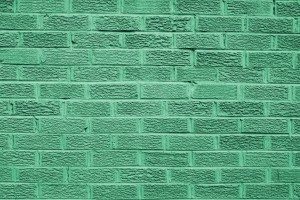 Green Colored Brick Wall Texture - Free High Resolution Photo