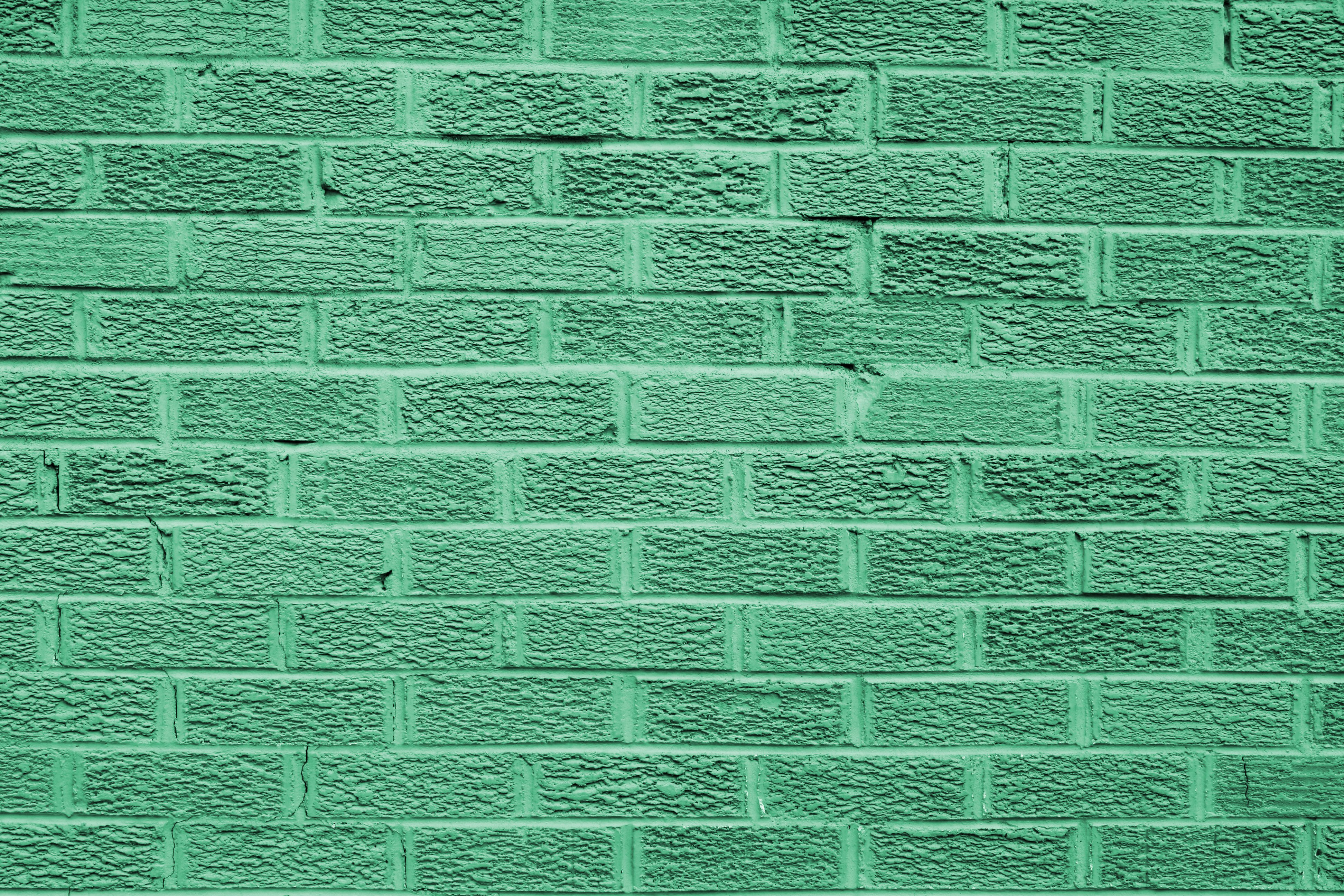 Green Colored Brick Wall Texture Picture Free Photograph