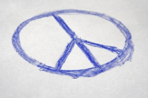 Hand Drawn Crayon Peace Sign - Free High Resolution Photo