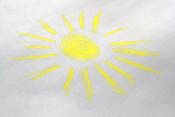 Hand Drawn Crayon Sun - Free High Resolution Photo