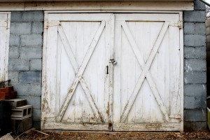 Old Garage or Carriage House Door - Free High Resolution Photo