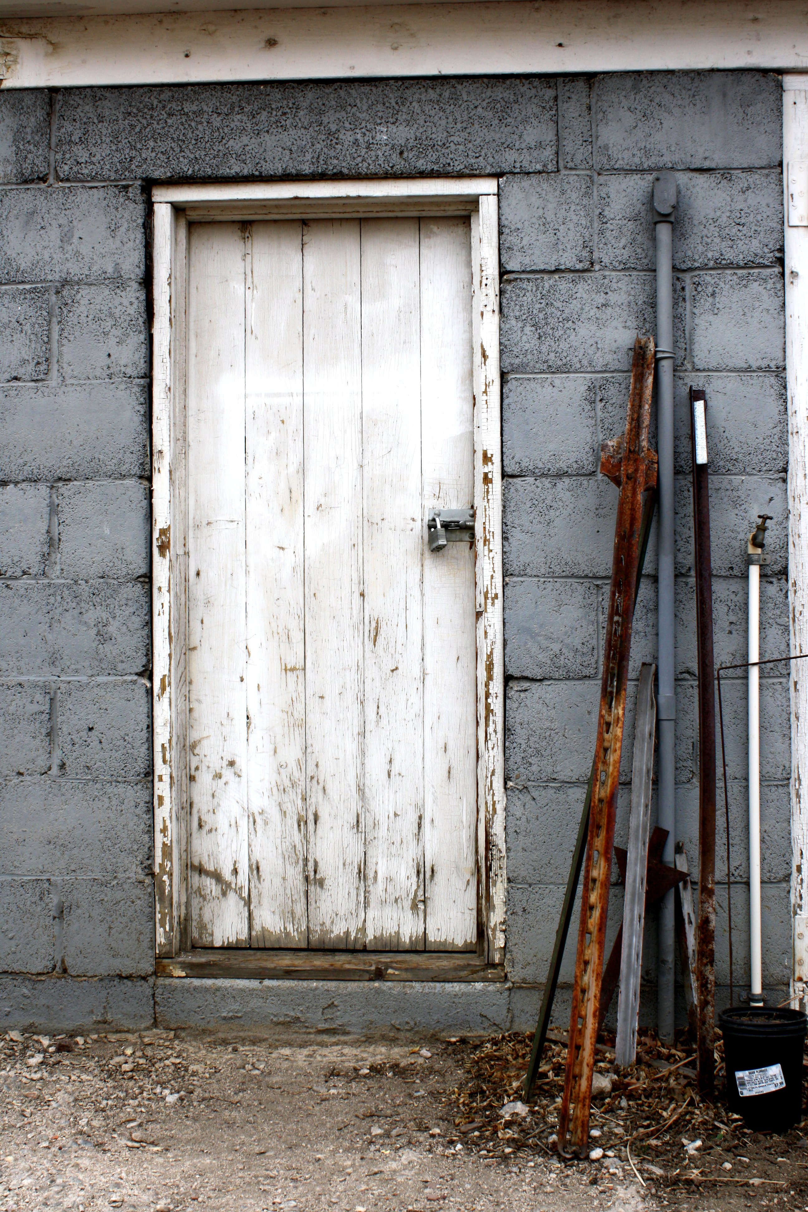 Old Shed Door With Metal