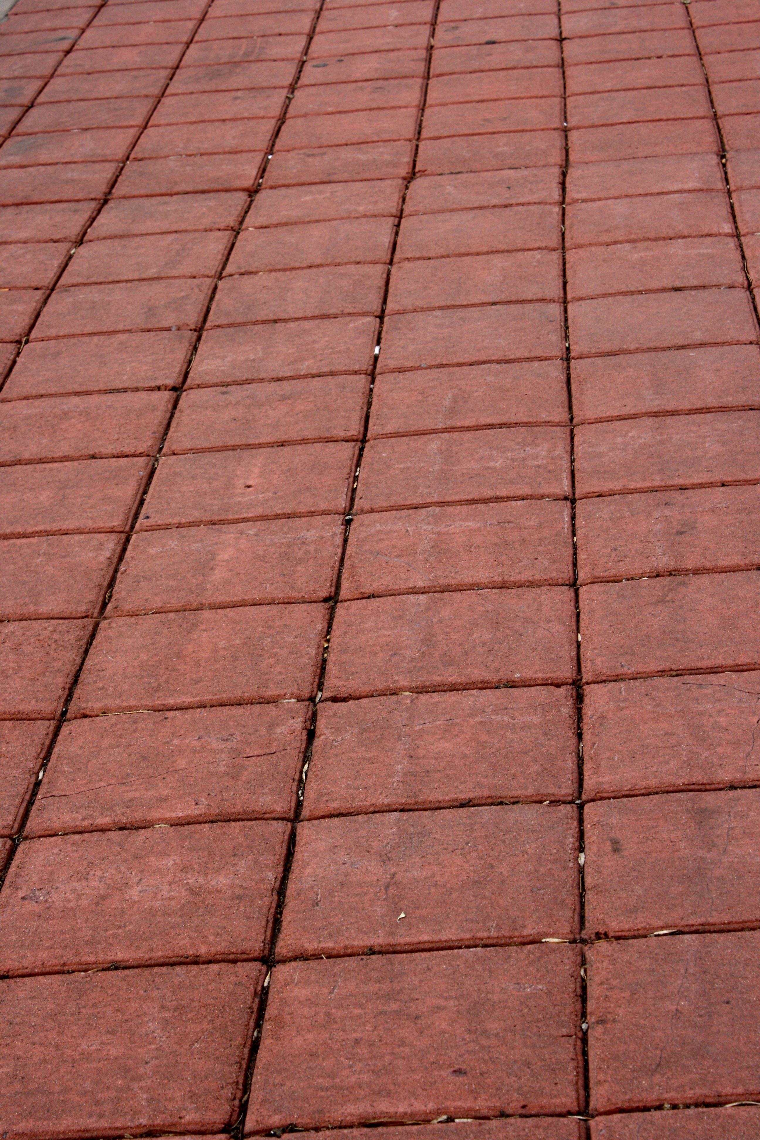 Red Pavers Sidewalk