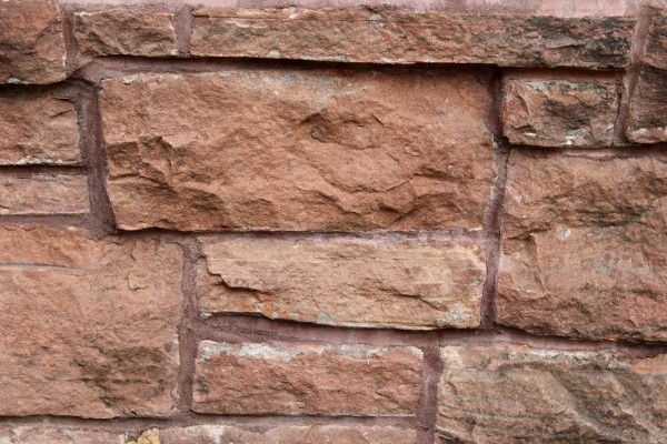Red Sandstone Retaining Wall Close Up Texture - Free High Resolution Photo