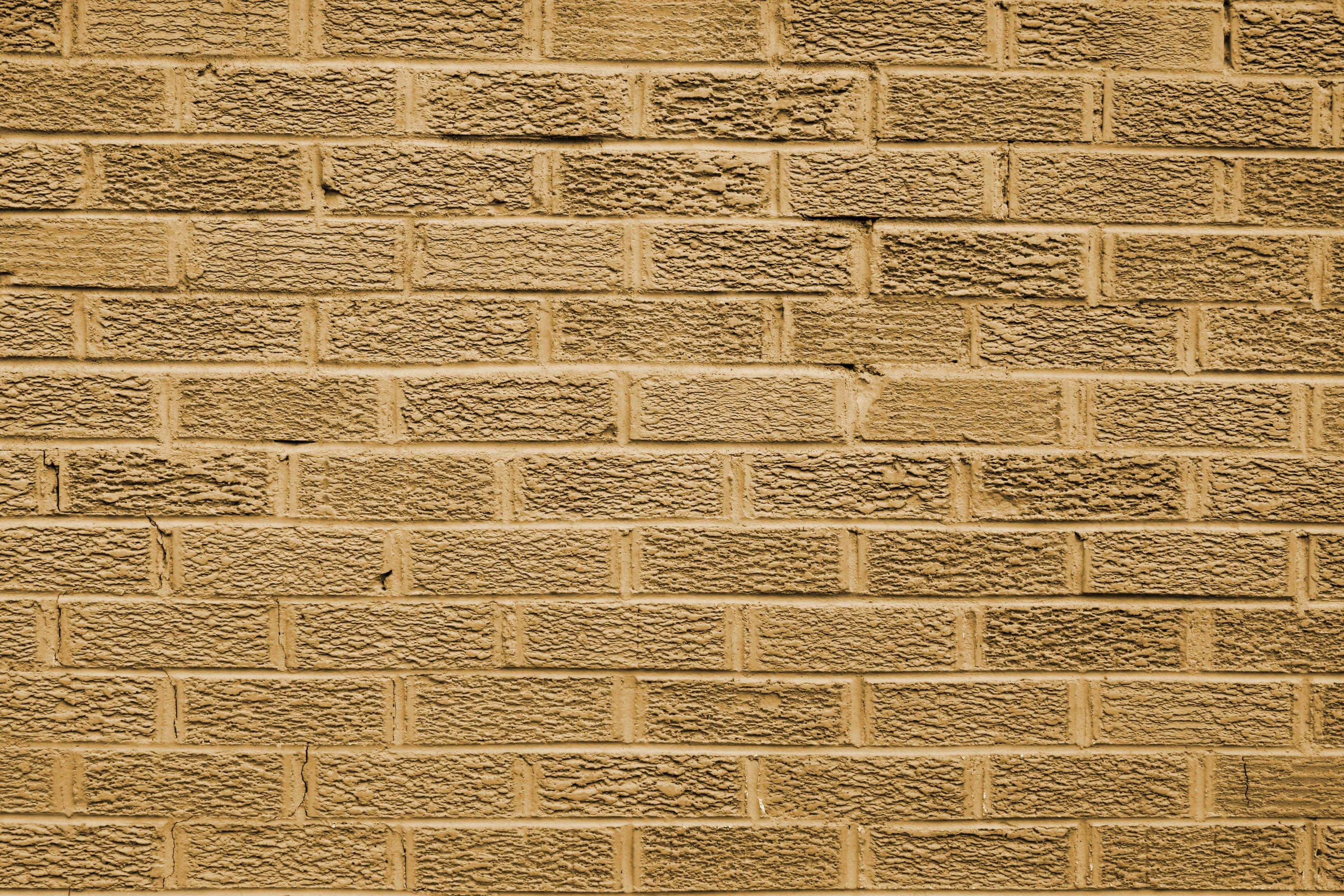 Tan Brick Wall Texture Picture Free Photograph Photos