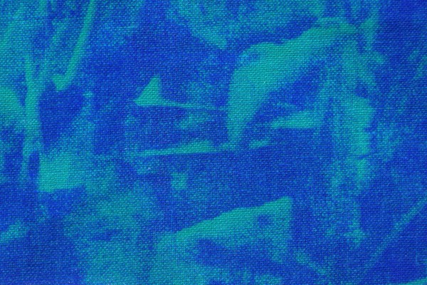 Blue and Turquoise Random Pattern Print Fabric Texture - Free High Resolution Photo