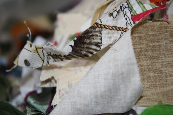 Close Up of Fabric Scraps - Free High Resolution Photo