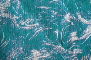 Fabric Texture with Teal Swirl Pattern - Free High Resolution Photo