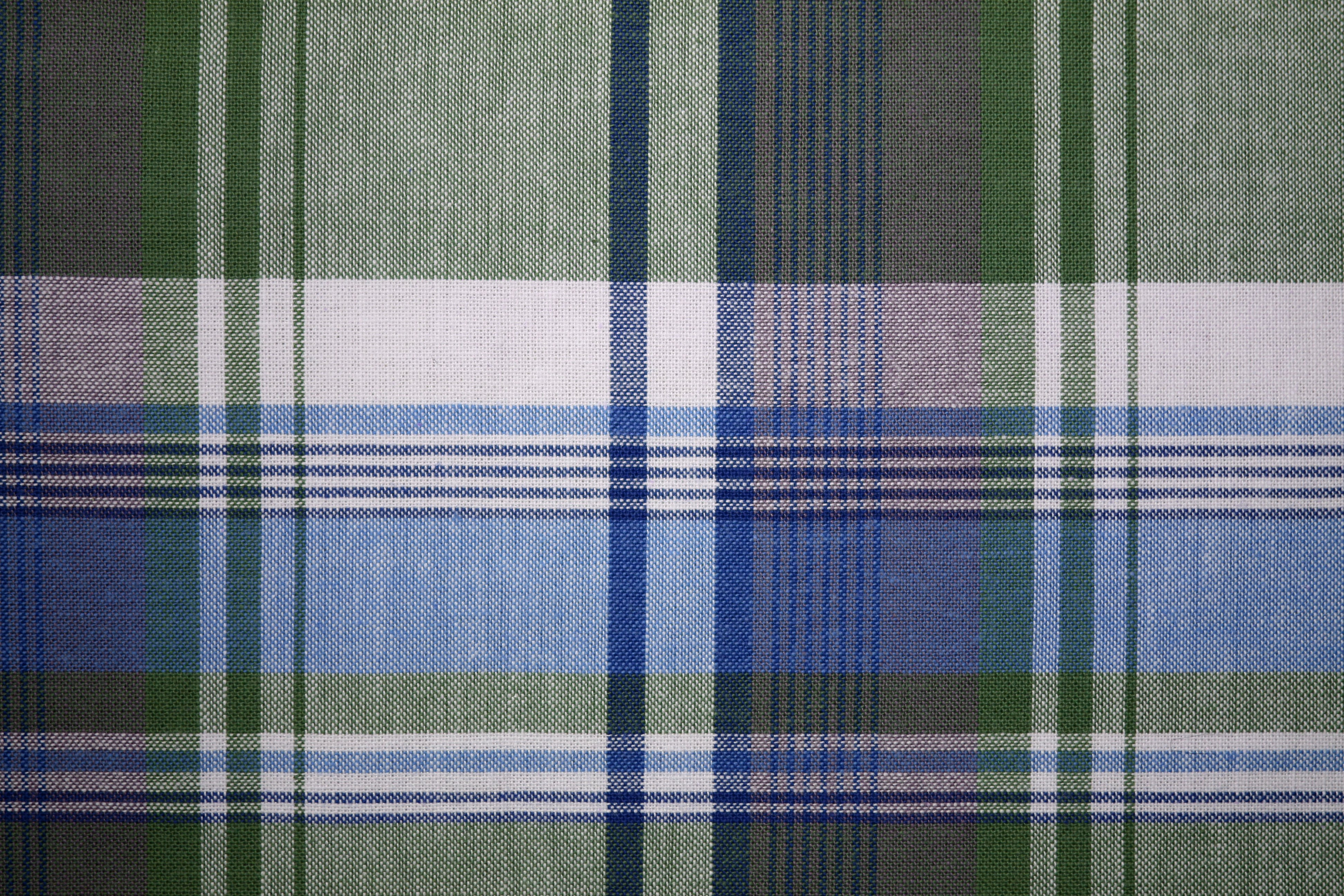 Plaid Fabric Texture Blue and Green Picture | Free Photograph ...